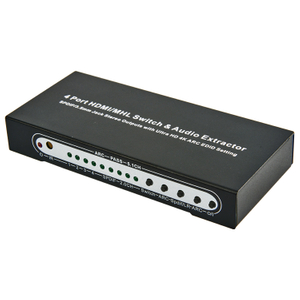 HDMI1.4 4x1 Switcher with Audio Extractor