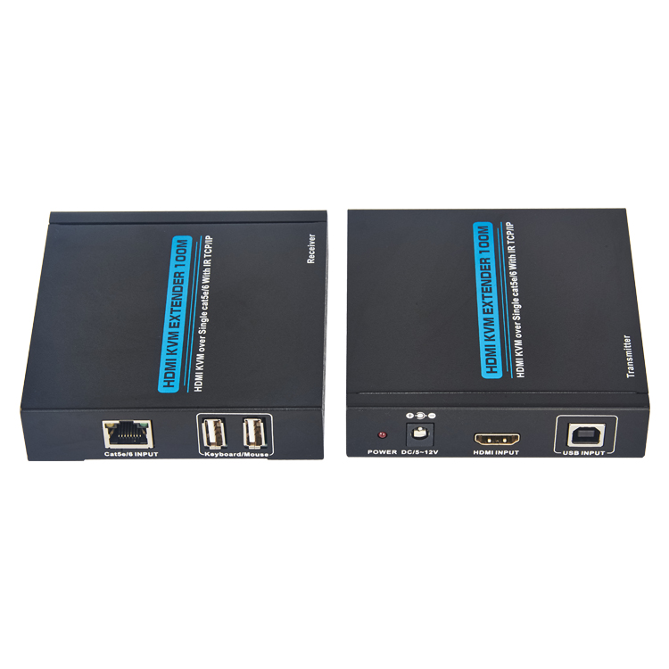 HDMI KVM Extender 100m over lan cable with IR+TCP/IP