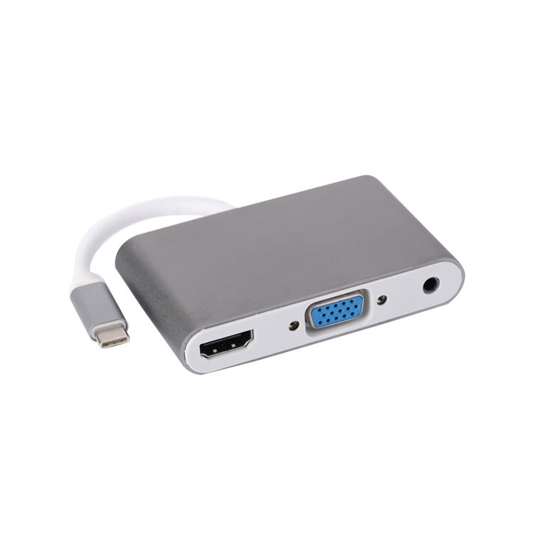 TYPE C TO HDMI+VGA+3.5MM STEREO
