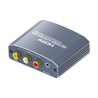 AV to HDMI+Stereo Converter(Up Scaler)