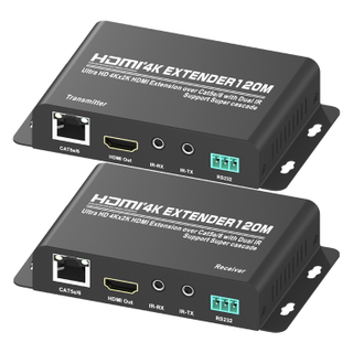 HDMI1.4V 120M Extender Over CAT5e/6 With Super Casade(3D Ultra HD 4Kx2K)