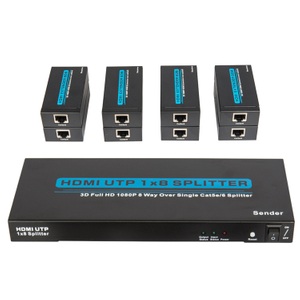 HDMI1.3V 1x8 60M UTP Splitter(3D Full HD 1080P)