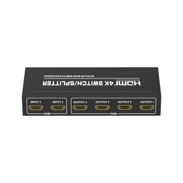 HDMI1.4V 2x4 Switch/Splitter(3D Ultra HD 4Kx2K)